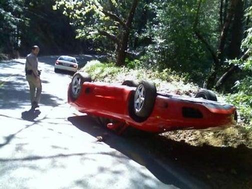 California Woman Flips Boss's Ferrari