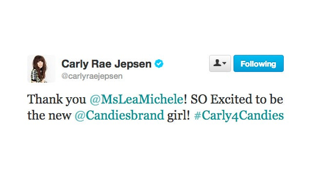 Carly Rae Jepsen Is the New Candies Brand Girl