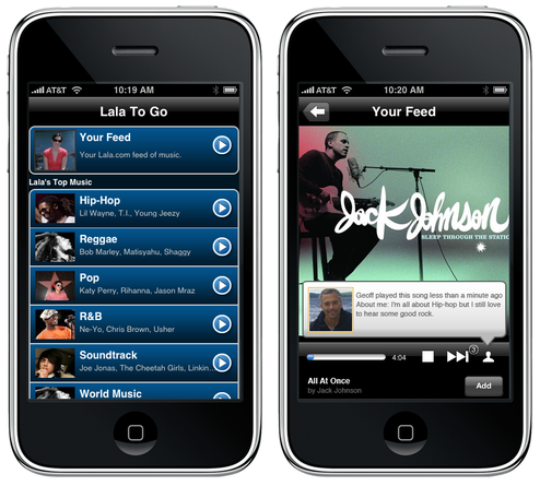 Lala Unveils iPhone App, Unusual 10-Cent Song Sales