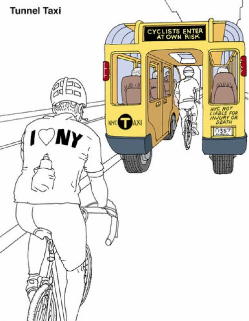 Taxi of Tomorrow Design Contest Produces Elaborate Cycling Death Trap