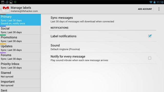 Customize the Alerts for Gmail Labels to Tame Information Overload
