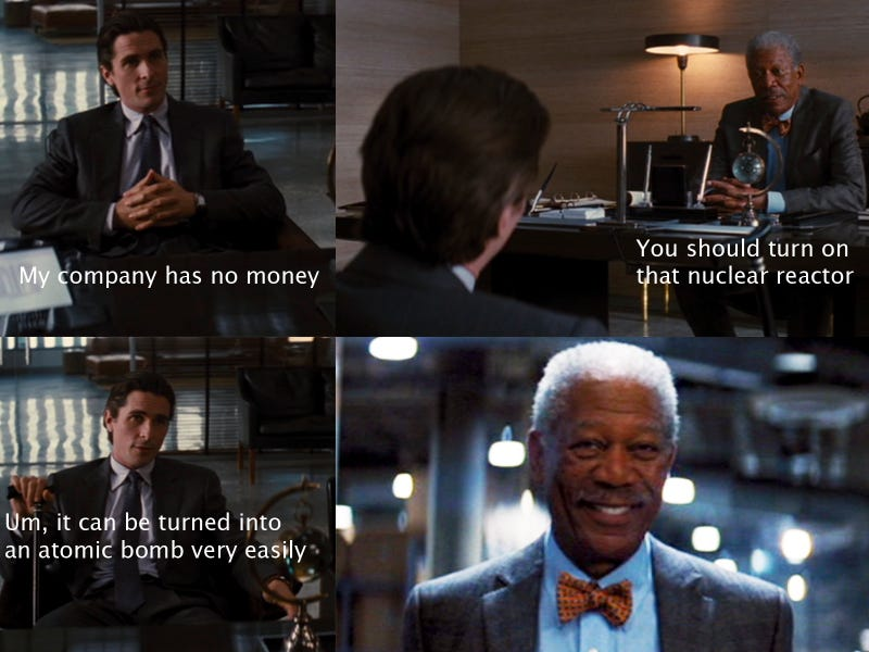 The Dark Knight's Lucius Fox Is America's Worst CEO