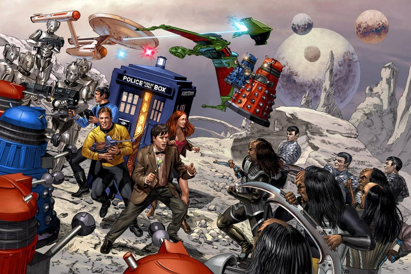 "Klingons and Daleks! Amazing ""Star Trek vs. Doctor Who"" Art Piece"