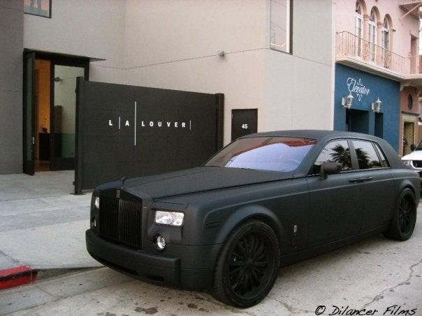 Matte Black Rolls Royce Phantom: Darth Vader's New Ride