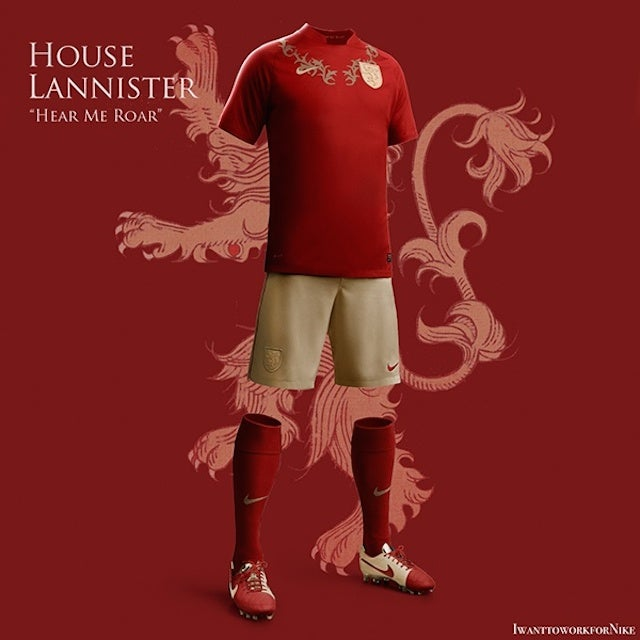 Great Game of Thrones Soccer Uniforms Prove We Need A Westeros World Cup