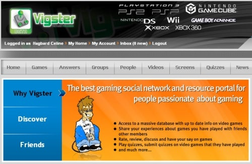 Vigster - A Social Games Shelf