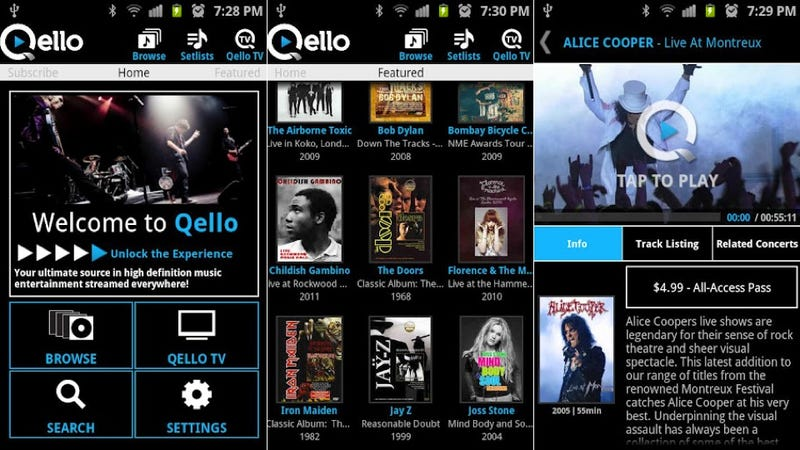 Songkick Concerts, Qello, and More