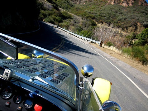 I Am The Gert: Riding Shotgun In A Se7en Over Decker Canyon