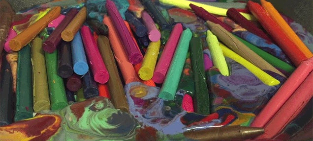 Melting Crayons Gets Pretty Psychedelic