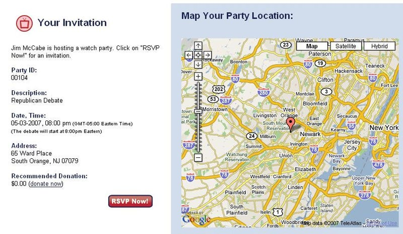 Giuliani Website Reveals Locations of High-Value Targets; Schedule Your Own 'Watch Party' Now