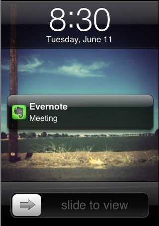 Tip: Schedule Evernote Reminders Right Before Appointments