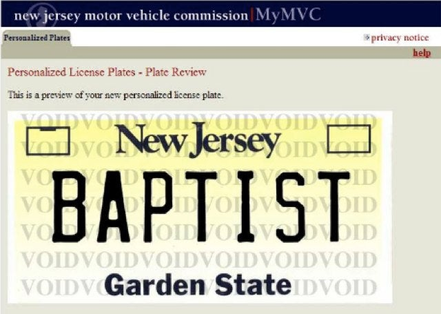 Woman Suing New Jersey for Rejecting Her Atheist License Plate