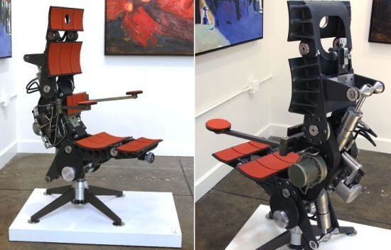 Chair Made from Torpedo-Lifting Jaws from a Nuclear Sub Will Cradle Your Explosive Parts