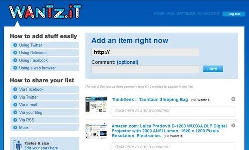Wantz.it Turns the Entire Web into Your Wishlist