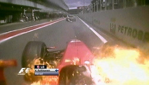Kimi Räikkönen On Fire
