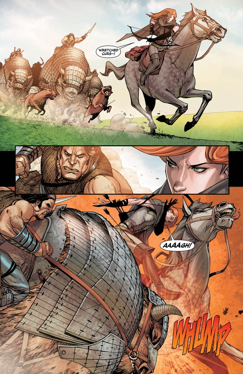 Everything changes for DC's Medieval ass-kickers in Demon Knights #16 — and here's your first look!