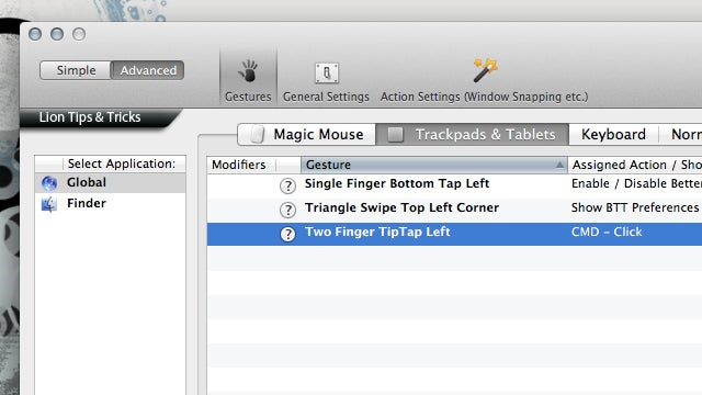 BetterTouchTool Adds Customizable Multitouch Gestures, Keyboard Shortcuts, and Window Snapping to OS X