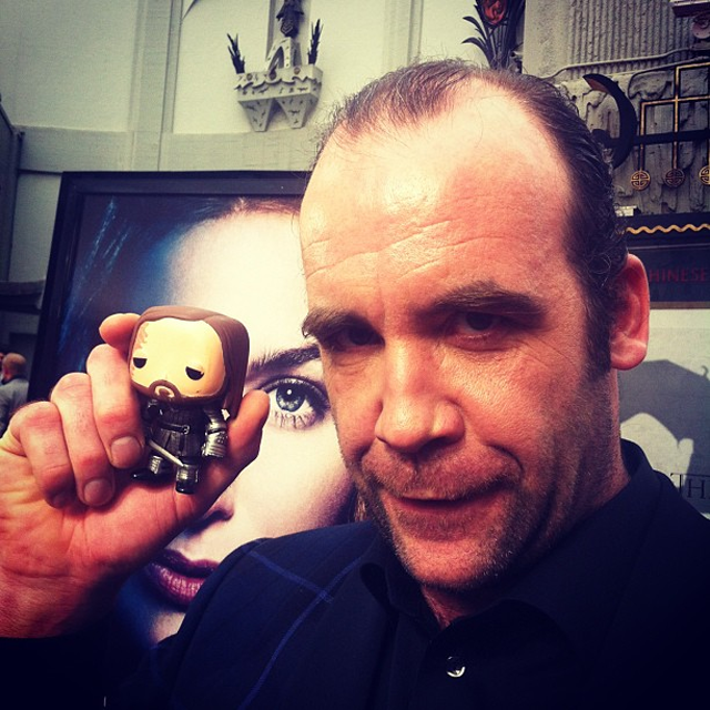 Game of Thrones actors posing with their action figures is adorable