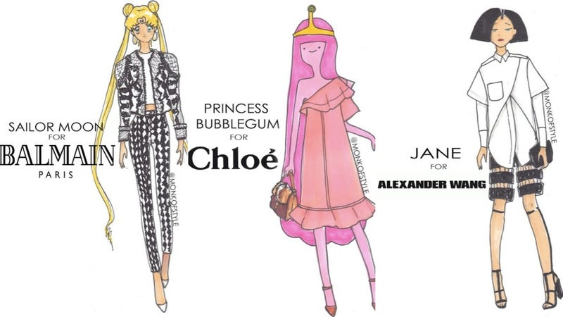 Cartoon Couture Collection gives your favorite cartoon characteres a high fashion makeover