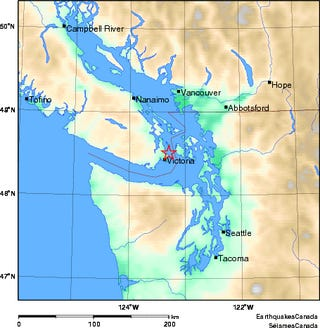 Measured and Perceived Shaking from a Vancouver Island Earthquake
