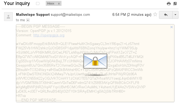 Mailvelope Offers Free, Easy-to-Use PGP Encryption for Gmail, Outlook, and Other Webmail Services