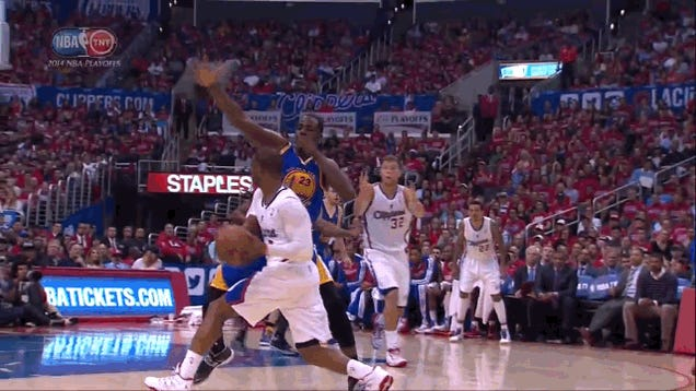Steph Curry Never Had A Chance On This Paul-To-Jordan Alley-Oop