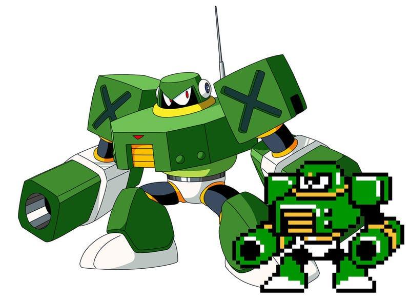 Mega Man 10 Robot Masters Sprites Vs. Art