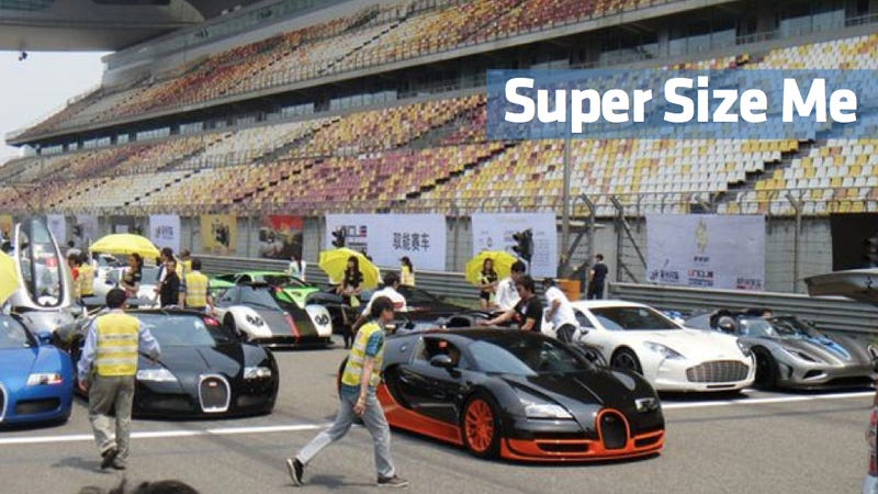 Watch this parade of 500 Chinese supercars