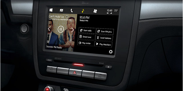 """Microsoft's New """"Windows in the Car"""" Concept Takes on Apple's CarPlay"""