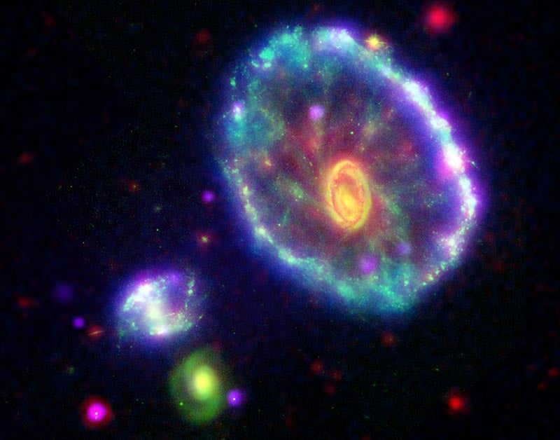 A Wounded Galaxy Sings With Light