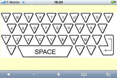 Triangle Keys May Be Ideal for LCD Keyboards But Look Vaguely Klingon