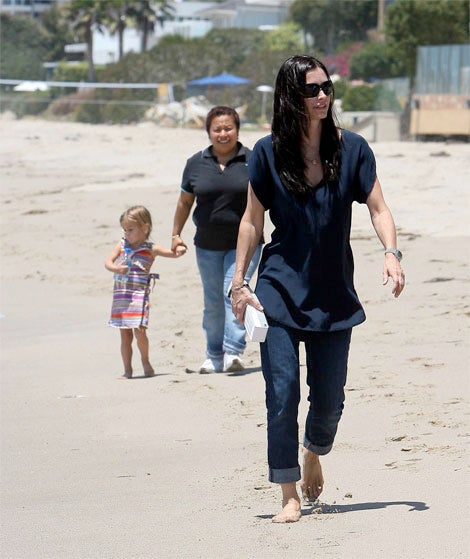 Courteney Cox Spends Quality Time With Daughter Coco (20+ Feet Behind Her)