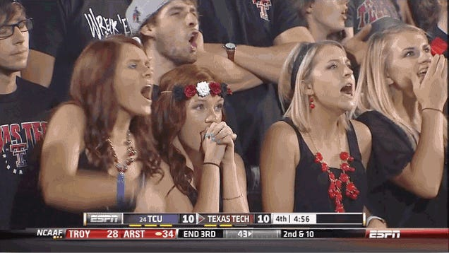 Texas Tech Fan Horrified By Her Own Foul Mouth