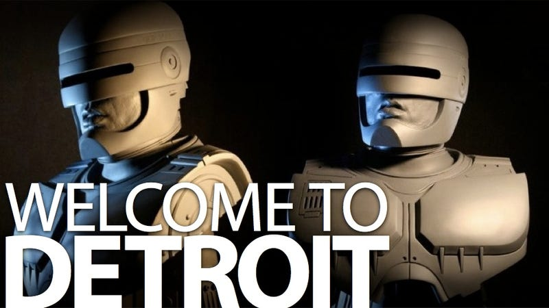 This is Detroit's new Robocop statue