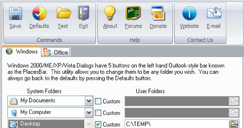 PlacesBar Editor Customizes Windows Explorer