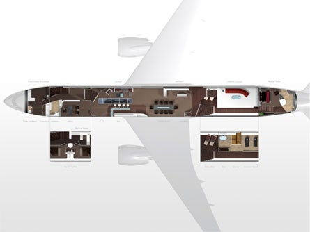 BMW Outfits Boeing 787 Cabin For Fictitious Tycoon