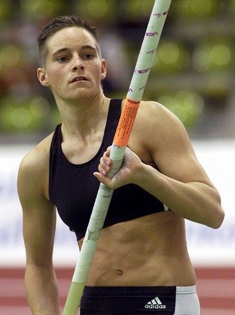 German Pole Vaulter Trades In One Pole For An ... Oh, I Can't Go On With This Headline