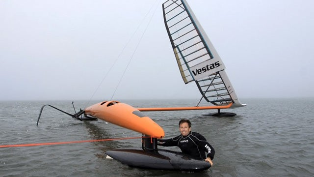The Sleek Sailrocket 2 Looks To Set a New World Speed Sailing Record