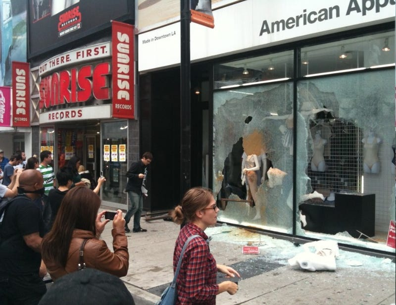 American Apparel Store Destroyed by Unfashionable Teens