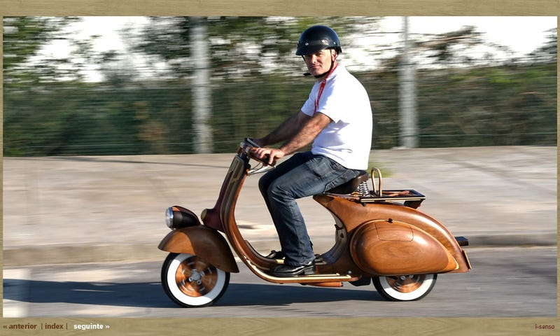Beautiful Hand-Made Wooden Vespa