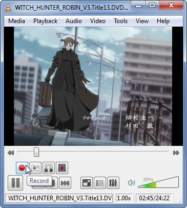 VLC 1.0 Records Video from DVDs