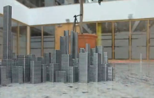 """The Making Of """"Ephemicropolis,"""" The City Of Staples"""