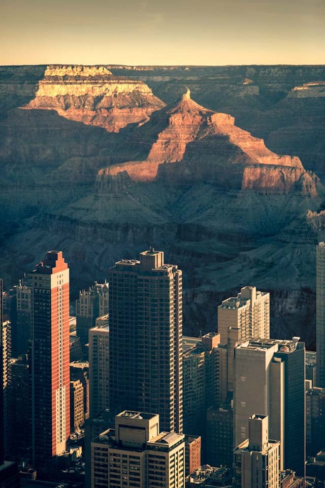 What Would Manhattan Look Like If It Were Inside the Grand Canyon?
