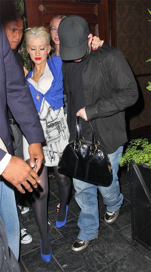 Christina Aguilera: Blue, Possibly-Blotto Baby Mama