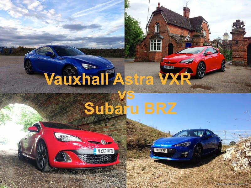 Vauxhall Astra VXR vs Subaru BRZ - shoot out
