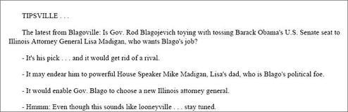 Chicago Columnist Outed As Blago's Favorite Patsy
