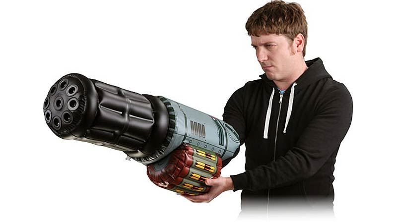 Inflatable Minigun Cannon: Minimal Imagination Required