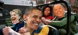 Obama's Posse Heads Out For The Weekend