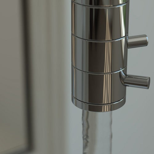 Ceiling-Mounted Bathroom Faucet Would Be Great For Quick Showers