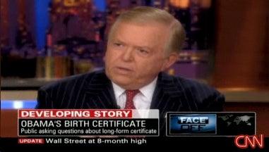 CNN Boss Tells Lou Dobbs: Birther Story is 'Dead'